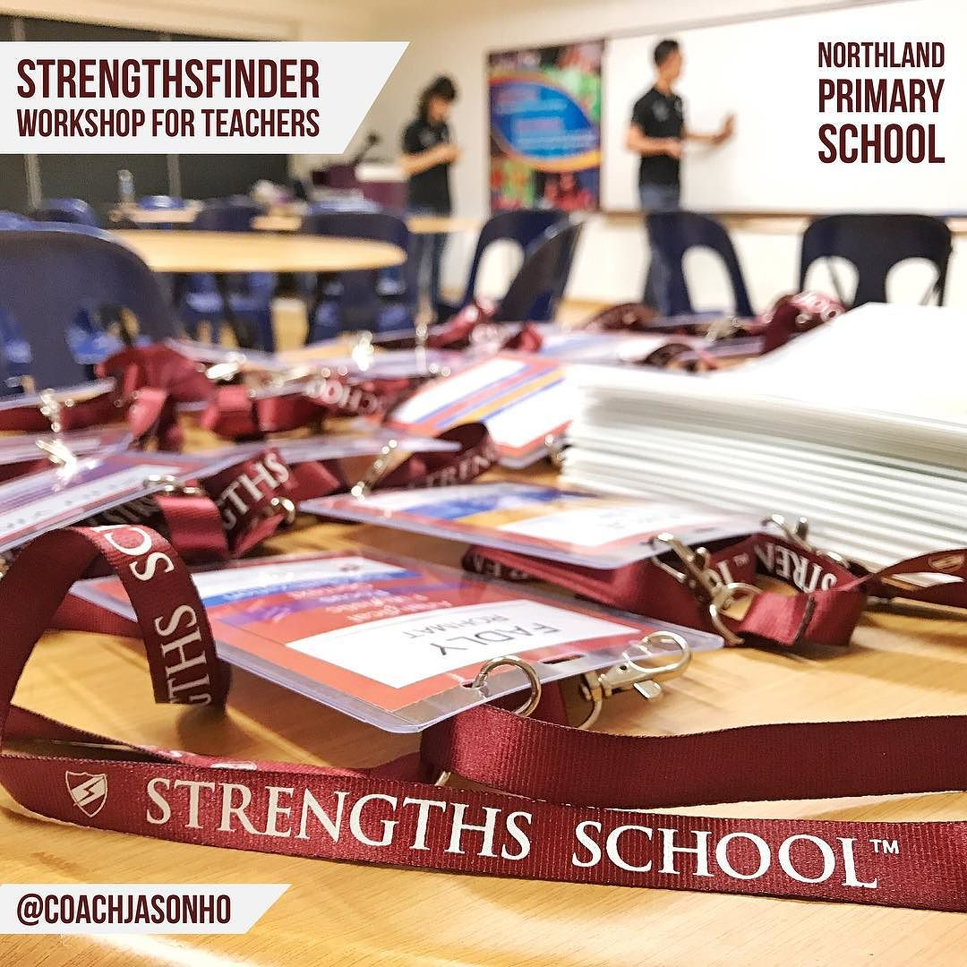 Singapore StrengthsFinder Workshop for teachers in Northland Primary School along Yishun Ave 4