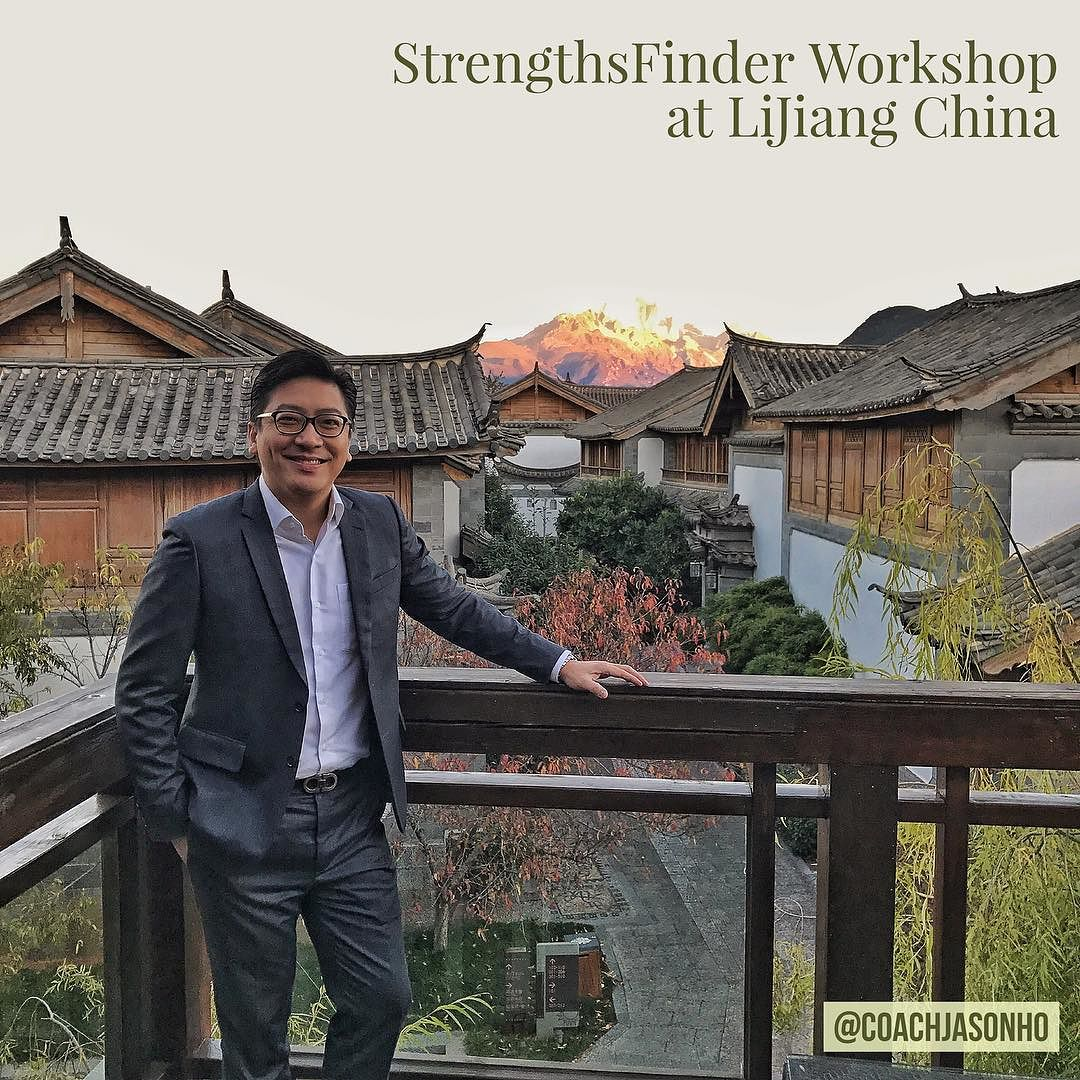 From hot Singapore to chilly China LiJiang doing a StrengthsFinder Workshop with an amazing view