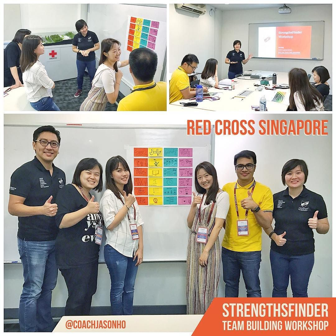 StrengthsFinder TeamBuilding Workshop for Singapore's #RedCrossSg at 15 Penang Lane (Red Cross House)