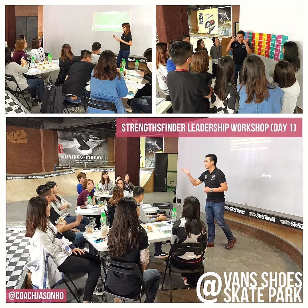 StrengthsFinder Leadership workshop in HongKong held in VANS shoes SkatePark Day 1