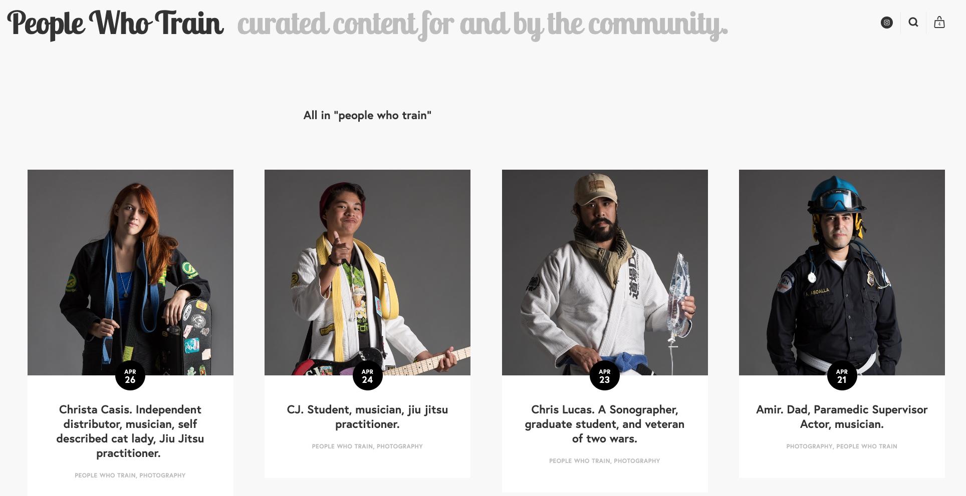 The People Who Train Project - Portraits of everyday Jiu Jitsu practitioners.