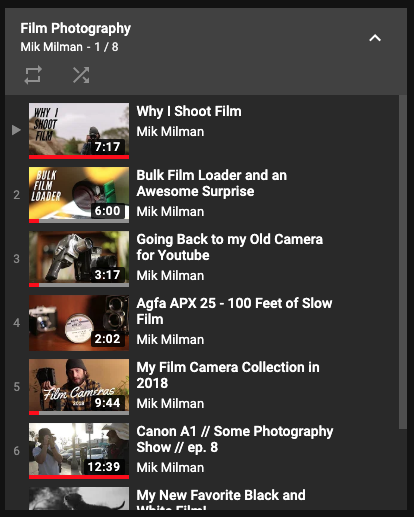 CHECK OUT MY FILM PHOTOGRAPHY PLAYLIST ON YOUTUBE -