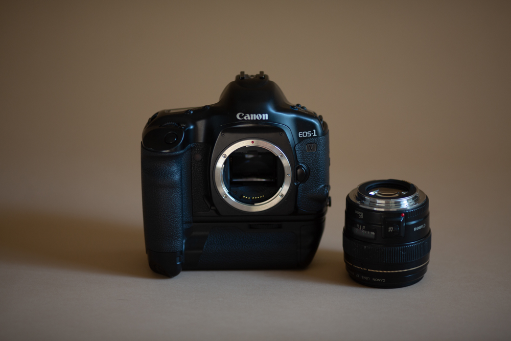 Canon 1V with my 85mm 1.8.