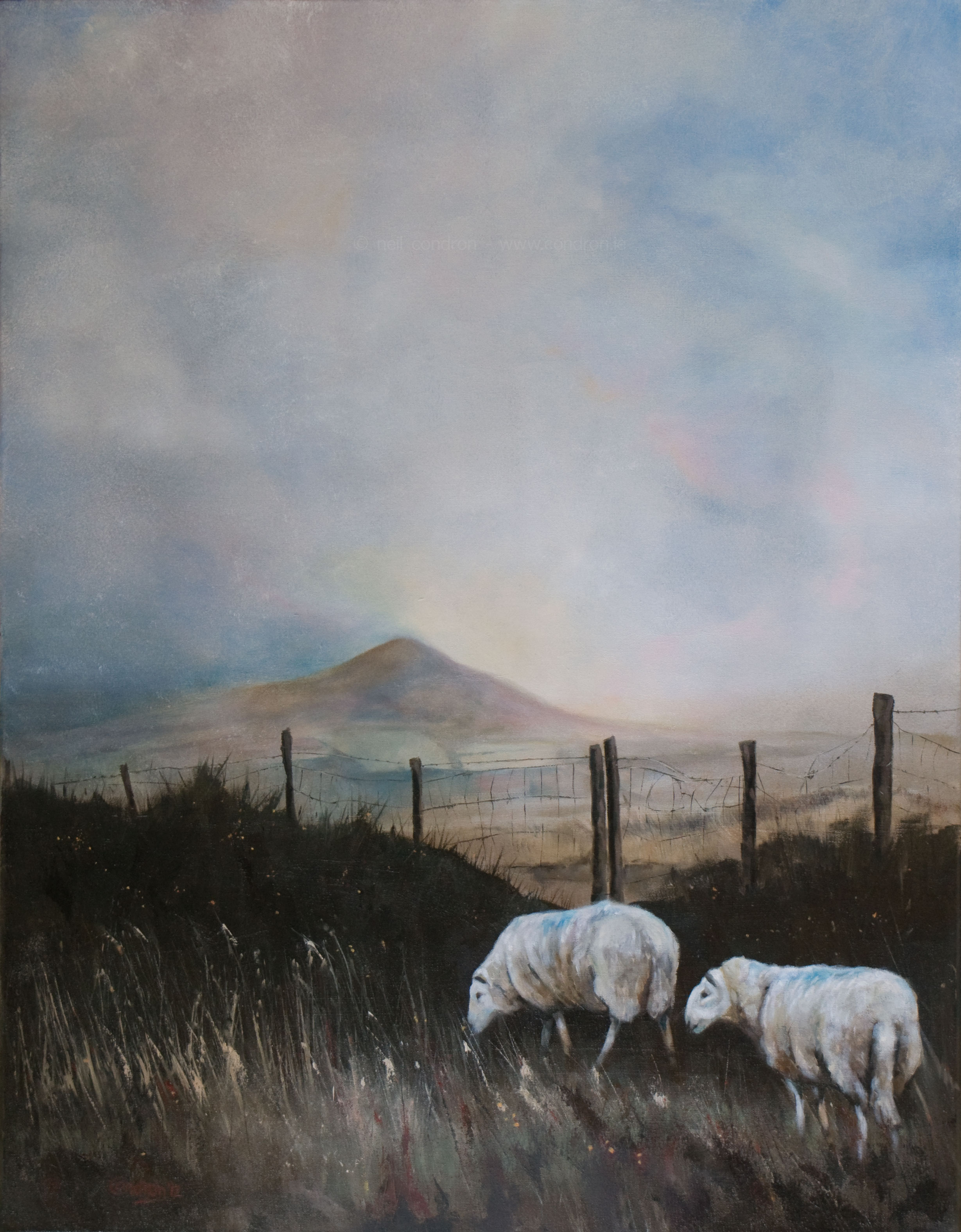 Two sheep and the Sugarloaf