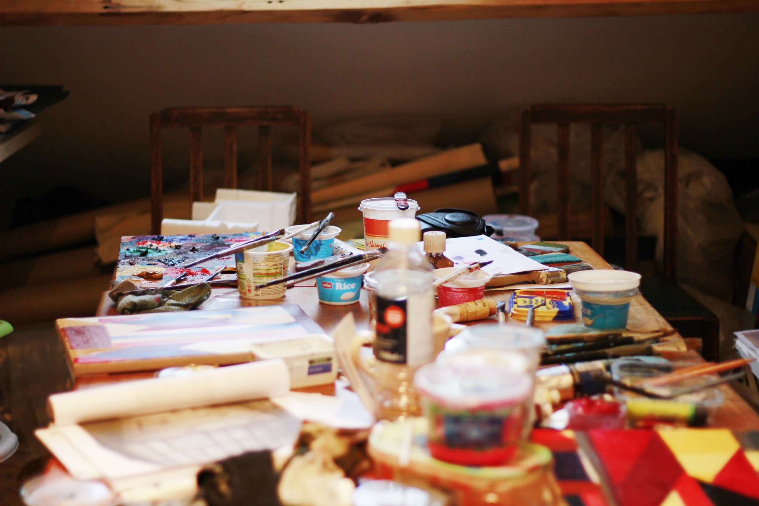 In Atta Kwami's studio, Copyright Sharon Obuobi