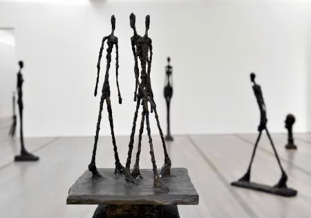 Three Men Walking, Giacometti  via