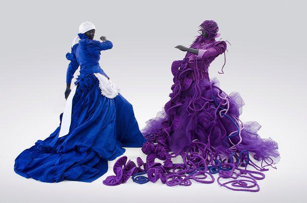 Mary Sibande's A Reversed Retrogress: Scene 1 (The Purple Shall Govern) (2013). Photograph: Mary Sibande/Courtesy Gallery MOMO