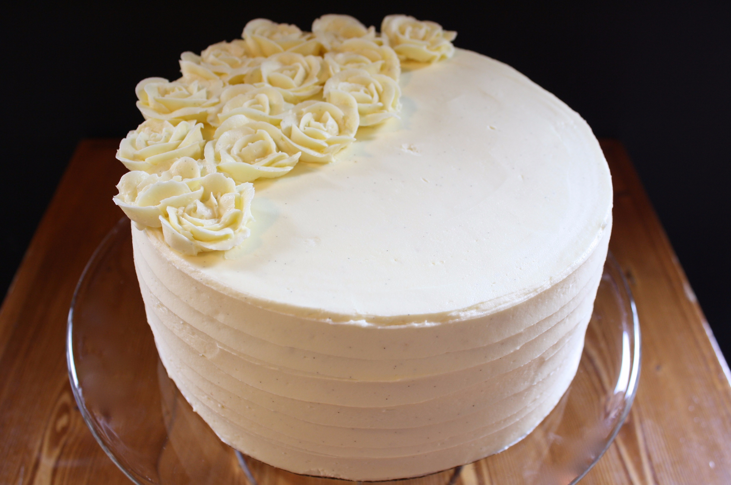 Tres leches*  DECADENT VANILLA CAKE SOAKED IN SWEETENED CONDENSED MILK AND EVAPORATED MILK, AND LAYERED WITH VANILLA BUTTERCREAM ICING