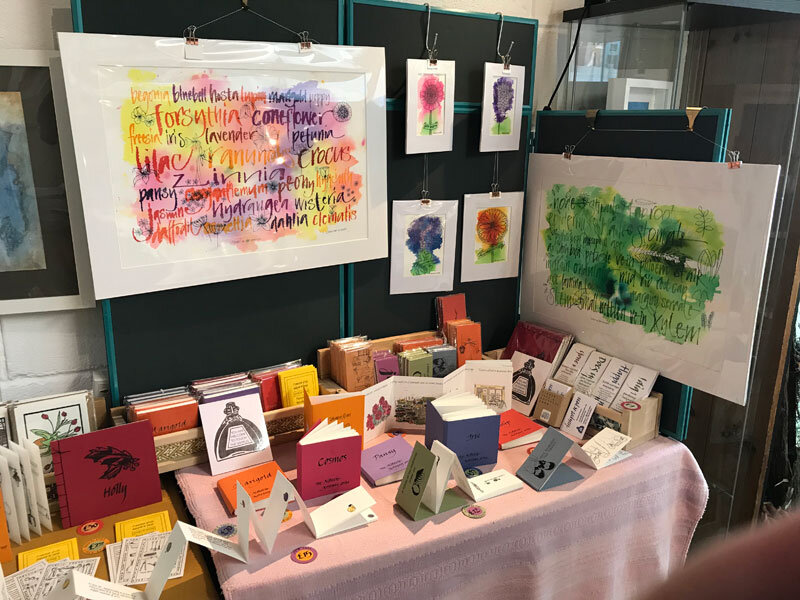 My stand at Turn End Open Studios