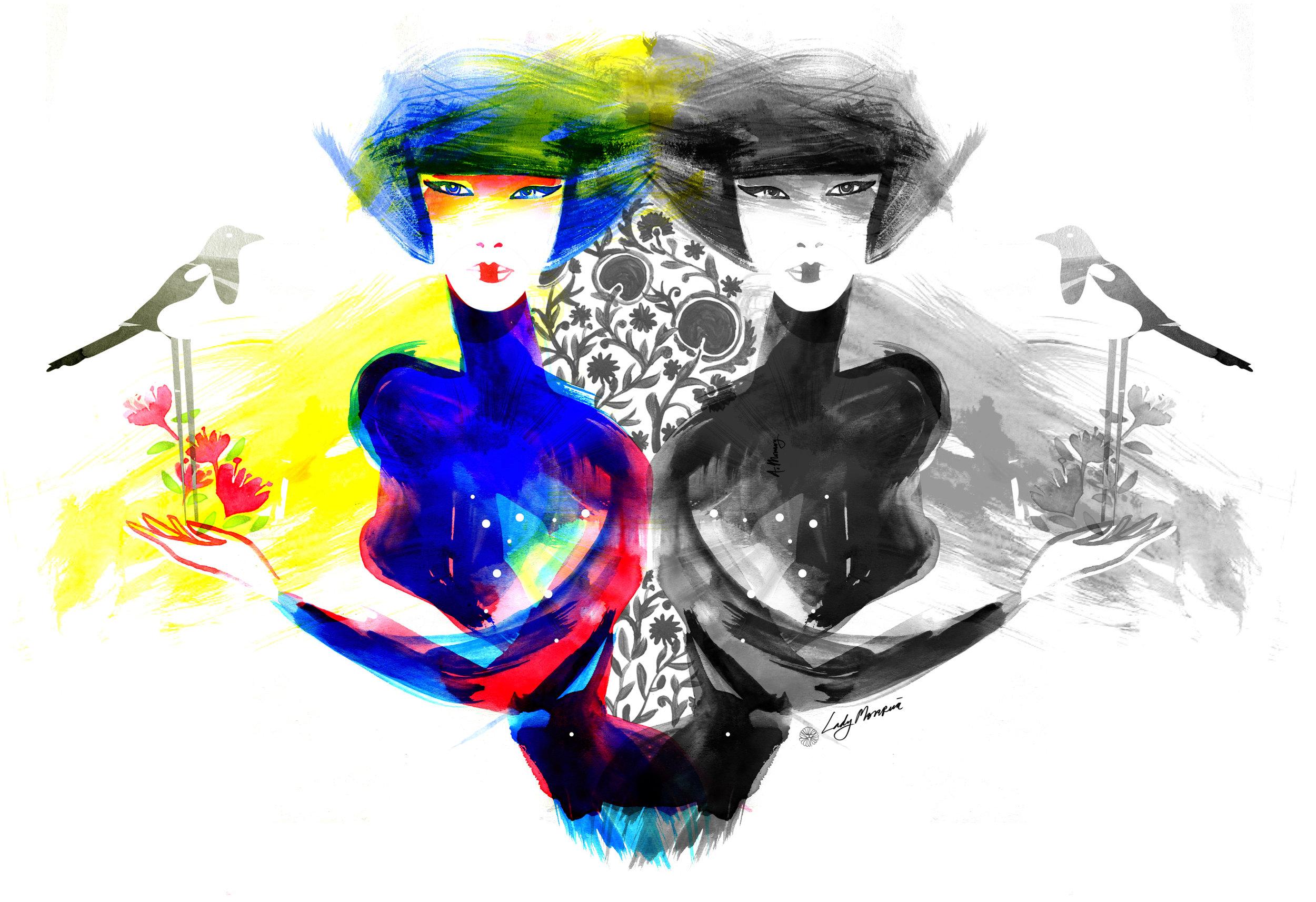Lady Monrua Illustration