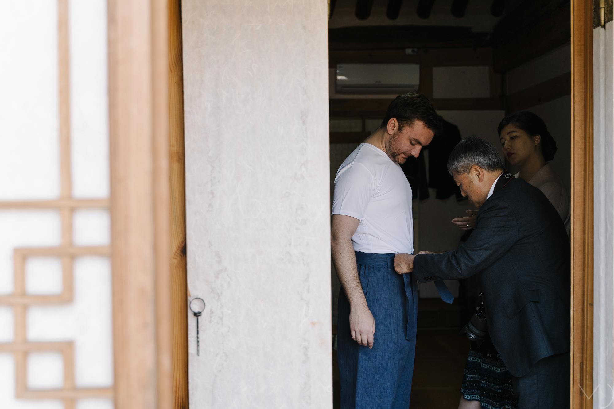 Uncle helps Conor.