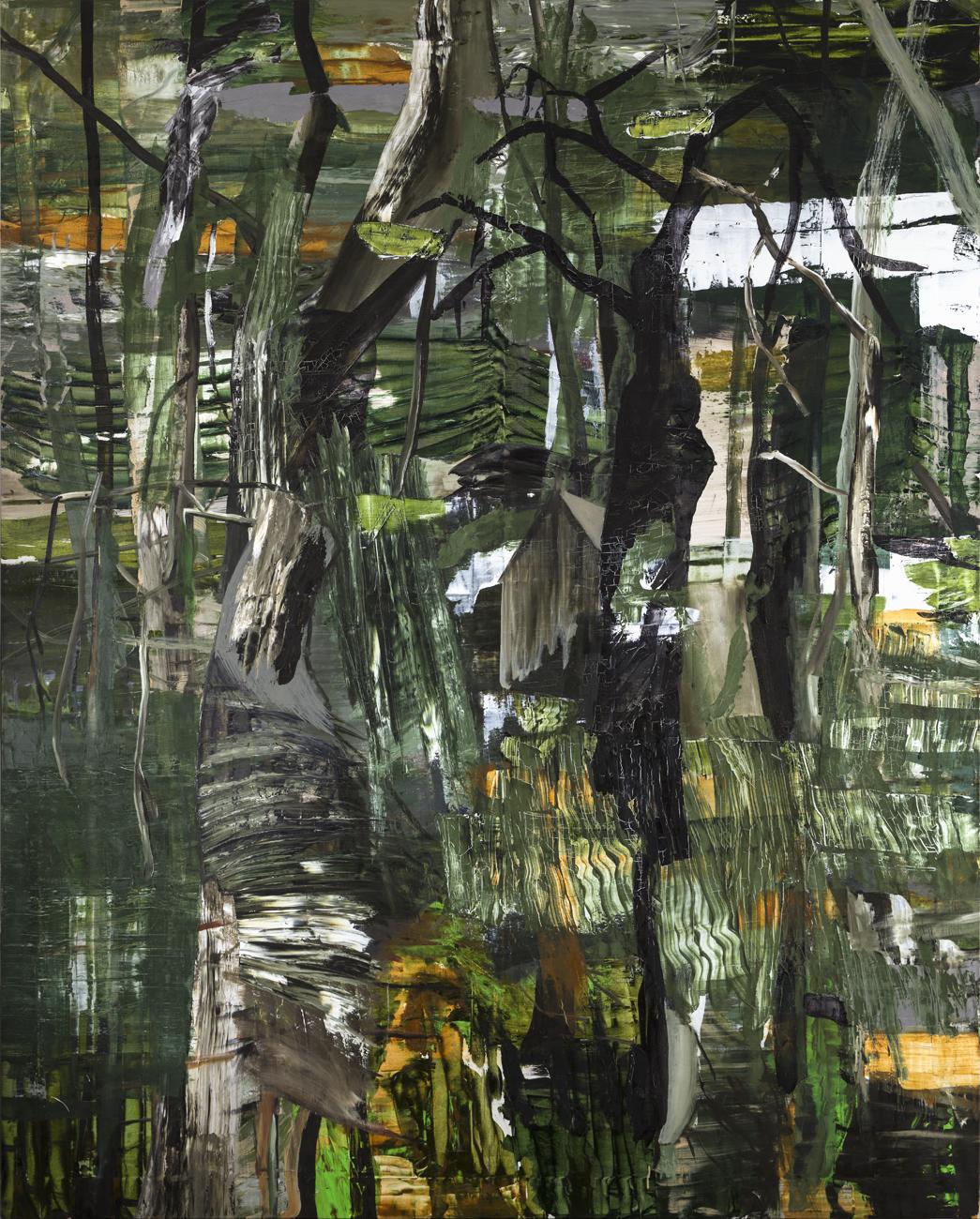 Andreas Eriksson  Ted Kazinskys Cabin  2004 Oil on canvas 225 x 170 cm