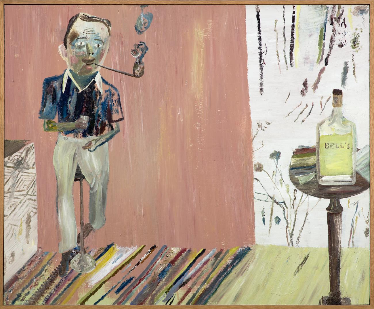 Jockum Nordström  Piprökaren  1998 Oil on panel 79 x 77 cm