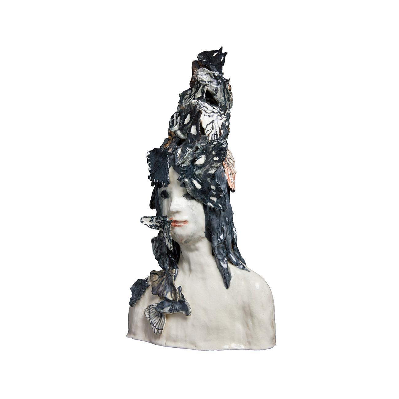 Klara Kristalova  Utan titel  2012 Sculpture in glazed ceramics 45 x 30 x 18 cm