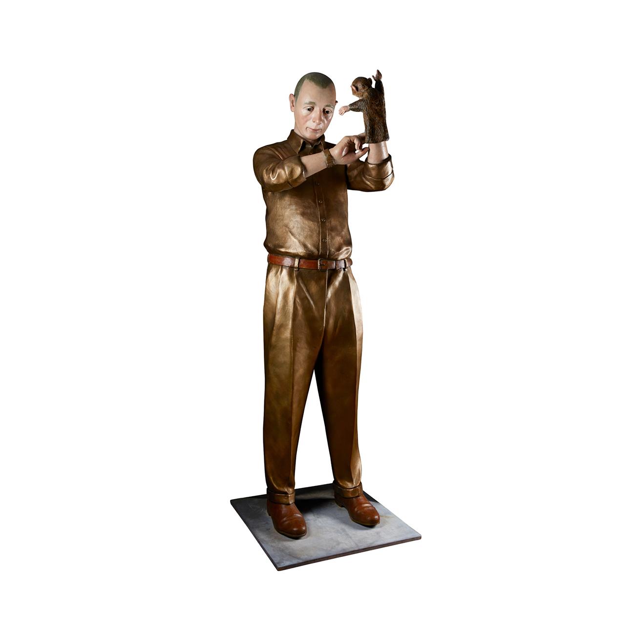 Lotta Hannertz  World maker  2014  Sculpture in painted bronze, 2/3 180 x 60 x 60 cm