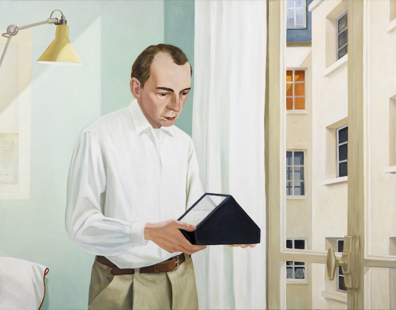 Lotta Hannertz  Artificial Horizon  2014 Oil on canvas 146 x 114 cm