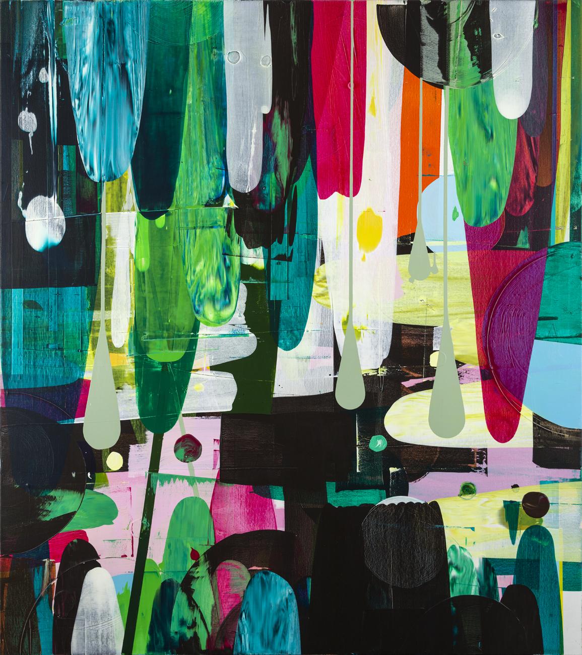 Astrid Sylwan  Something Dark  2009 Oil on canvas 180 x 160 cm