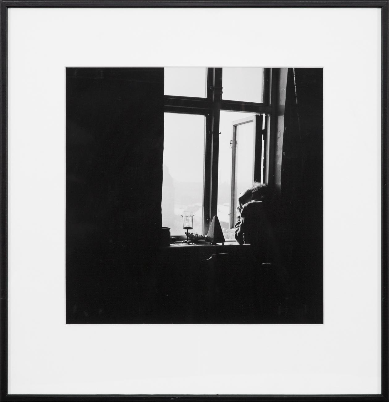 Ola Billgren  Vid fönstret  1962 Bromoil silver gelatin photograph Image sheet 33 x 33 cm