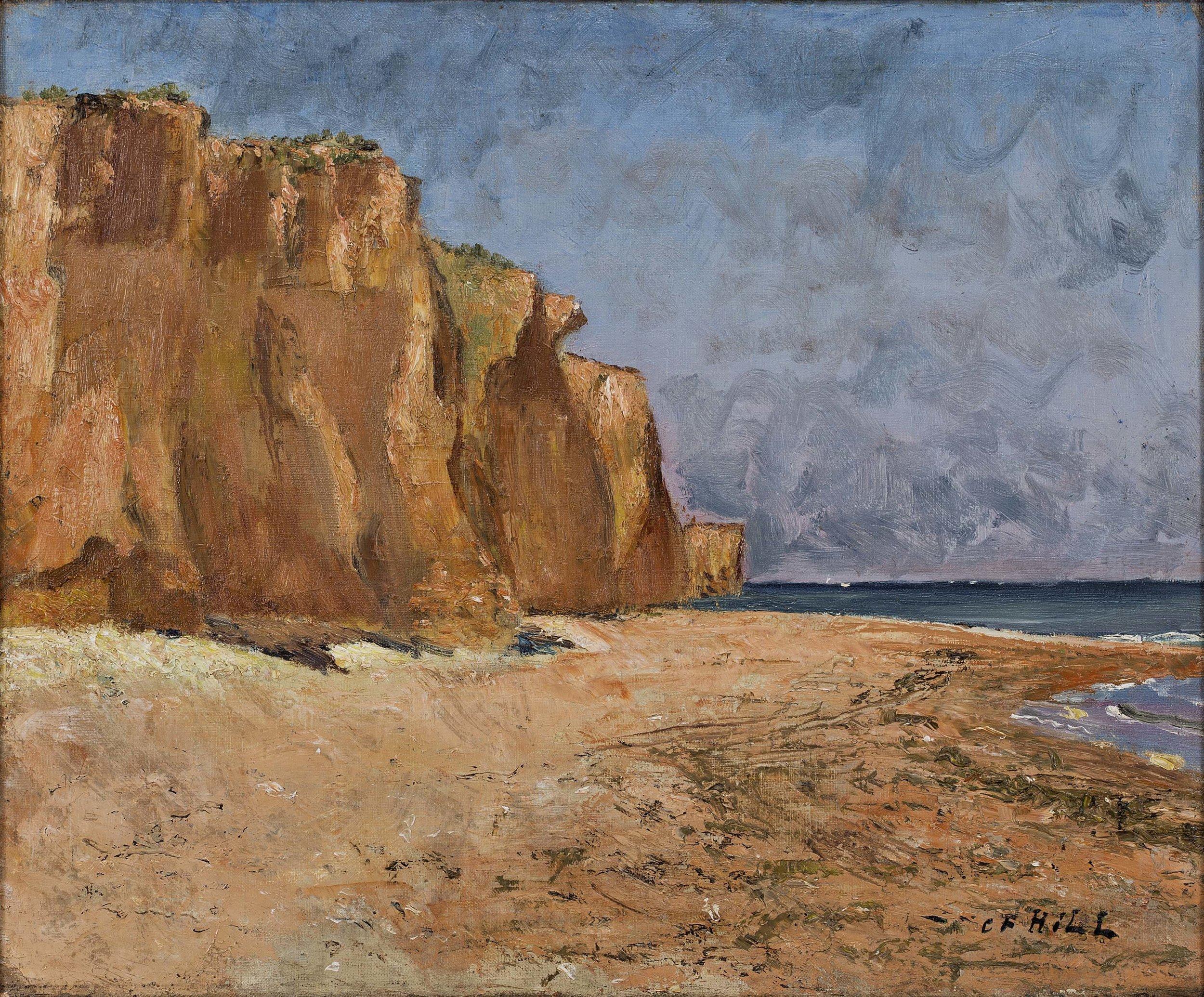 Carl Fredrik Hill   Motiv från Luc (Röda falaiser)  1876 Oil on canvas 46 x 56 cm