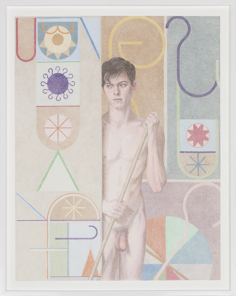Elijah Burgher   Bachelor (Paul)  2015 Colored pencil on paper 61 x 48,3 cm