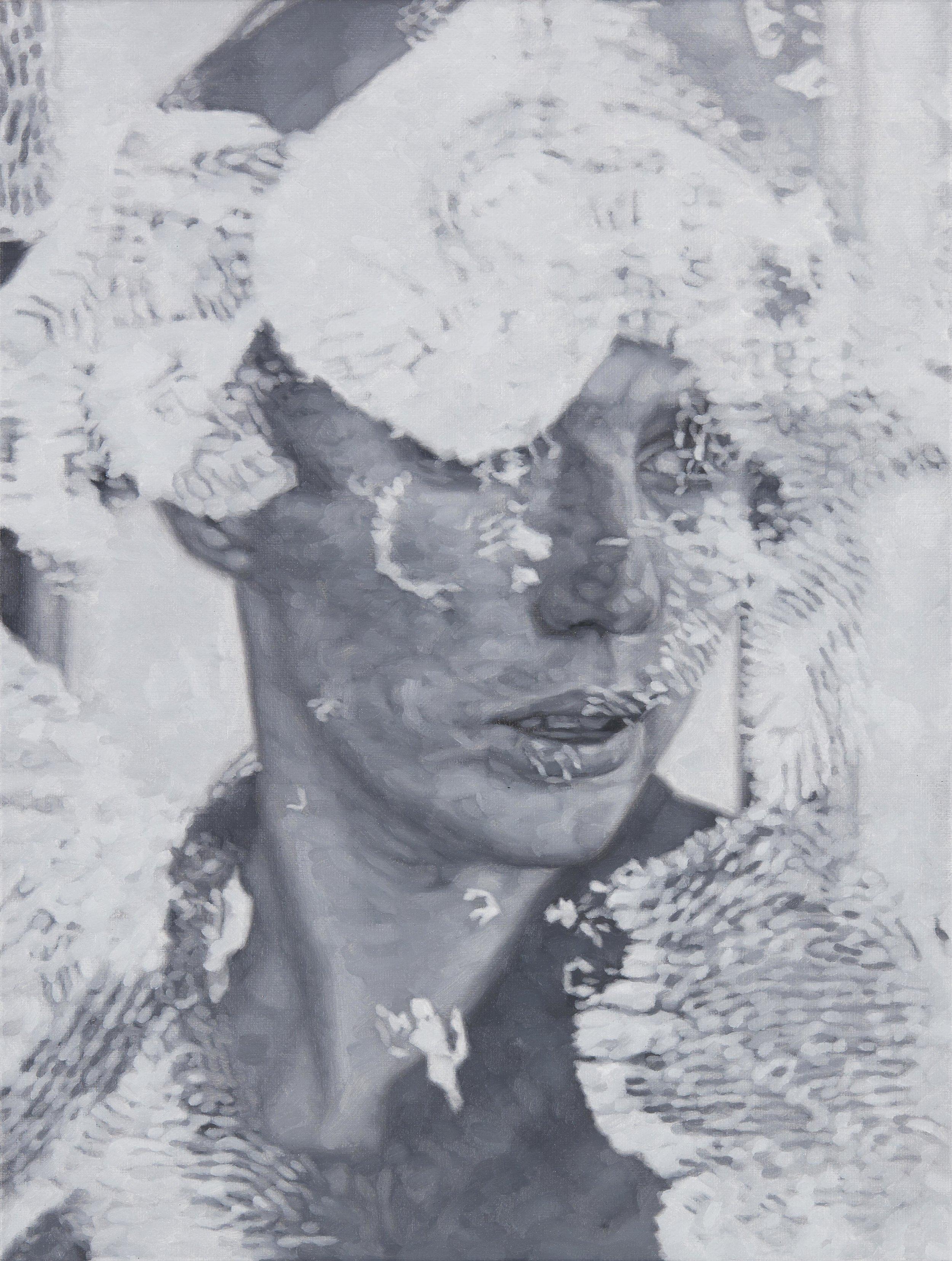 Tomas Lundgren   Retrace (Anna) (1)  2016 Oil on canvas 31 x 41 cm
