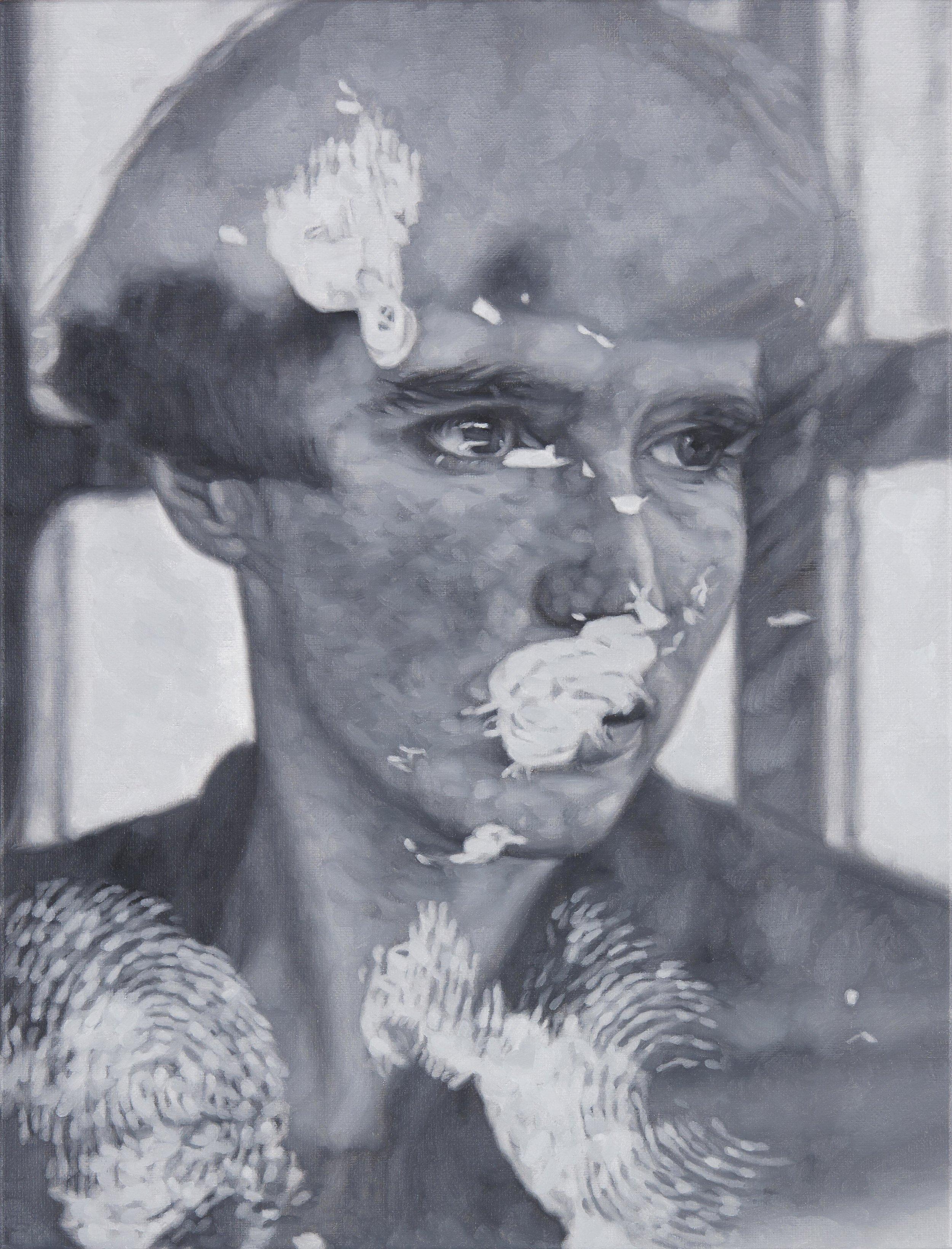 Tomas Lundgren   Retrace (Anna) (2)  2016 Oil on canvas 31 x 41 cm
