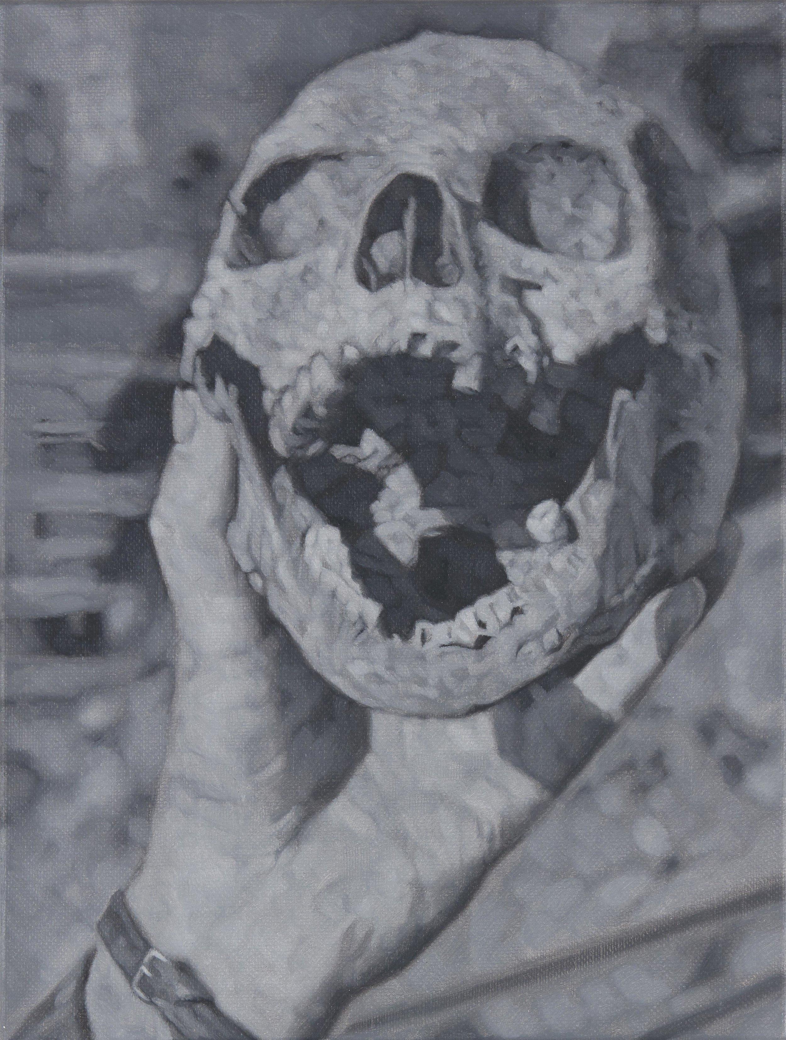 Tomas Lundgren   Skull (9)  2016 Oil on canvas 21 x 28 cm
