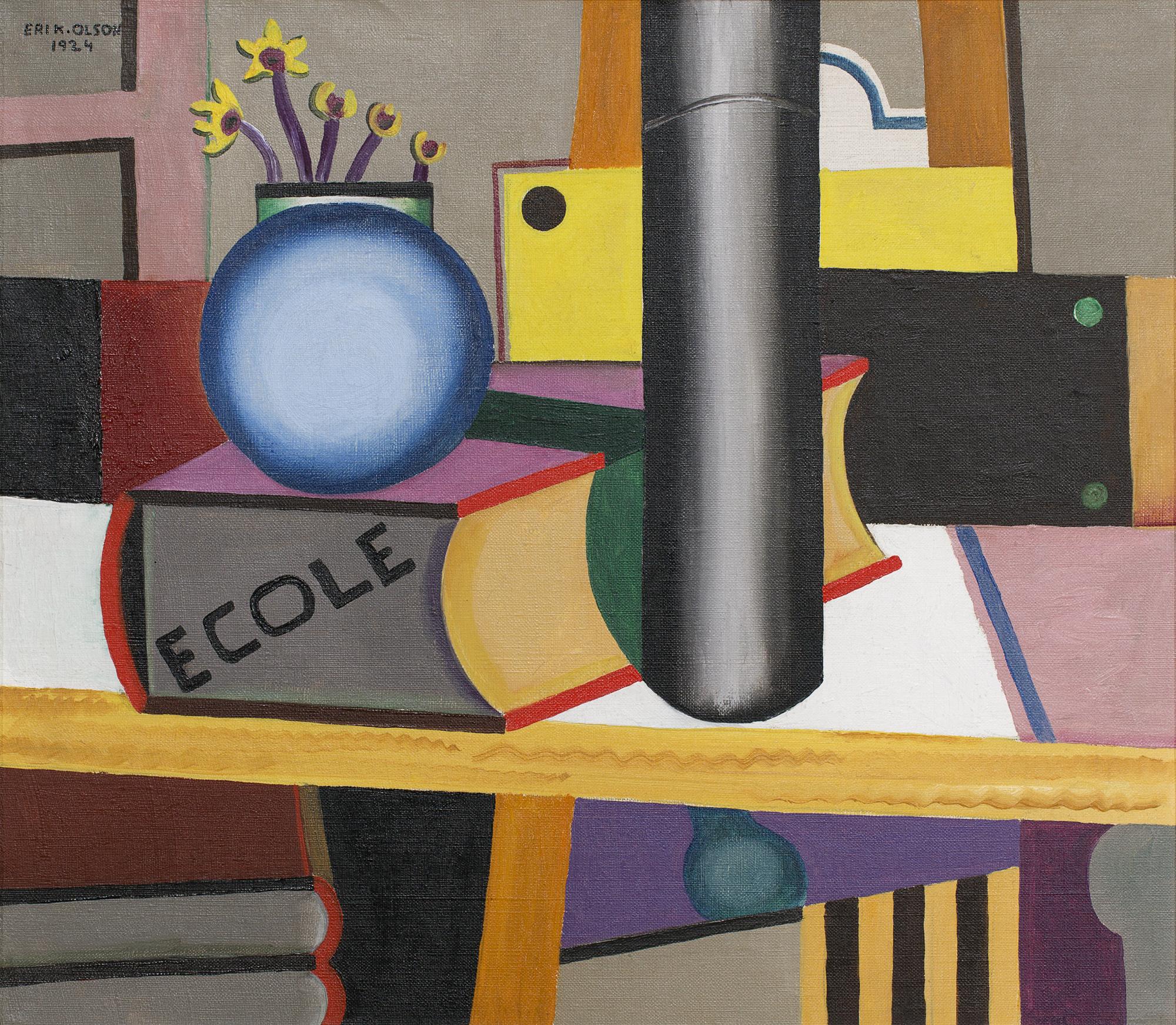 Erik Olson    École  1924 Oil on canvas 73 x 67 cm