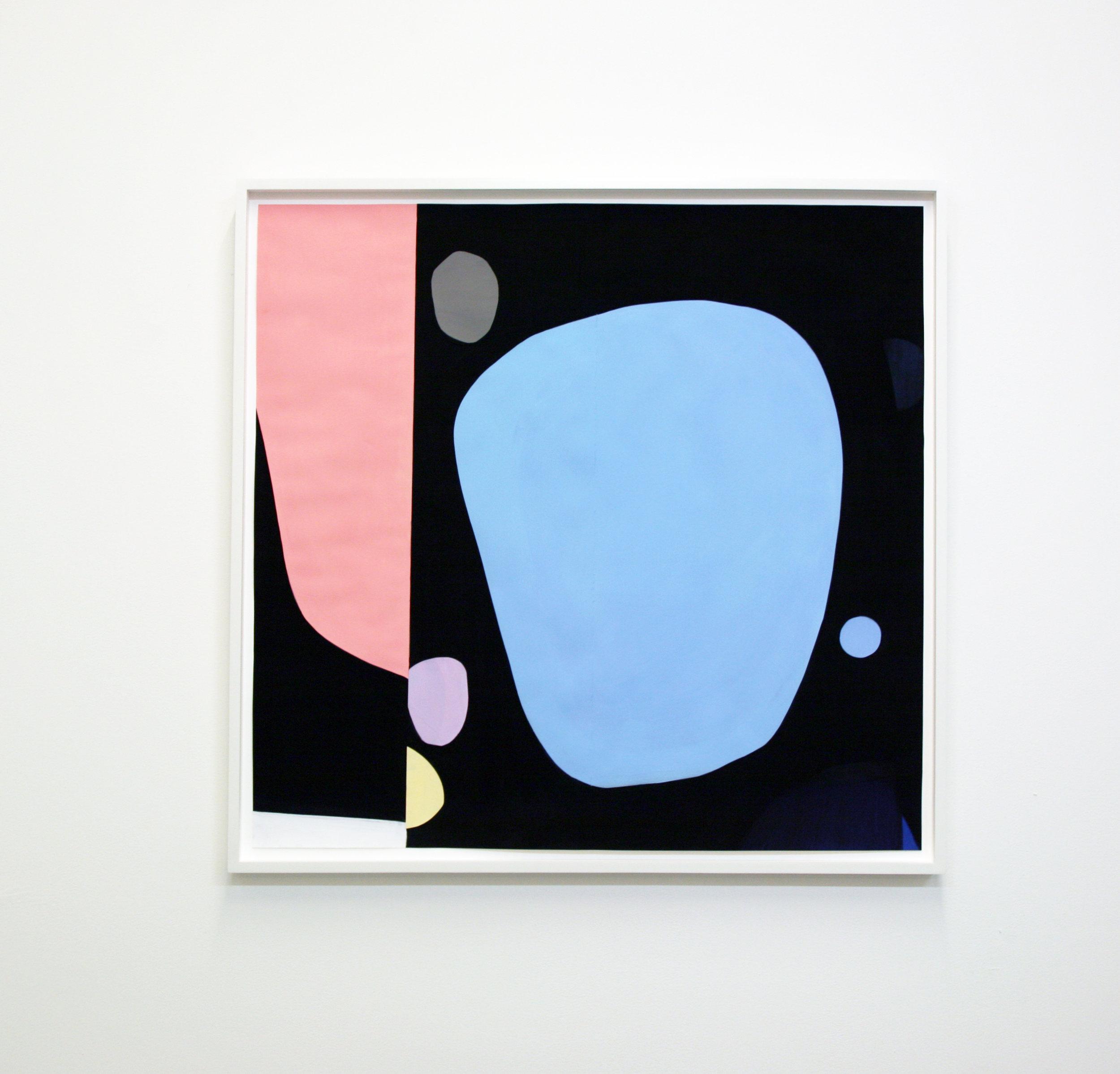 Scott Treleaven   Mayfair  2017 Gouache, acrylic and collage on paper 92,1 x 95,3 cm