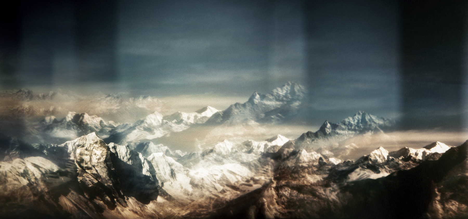 Jacob Felländer   Battered soul He left so young, brave and full of hope He came back but is nowhere to be found Mount Everest, Himalaya, 2016 Archival Pigment Print 90 x 190 cm Edition 3+1