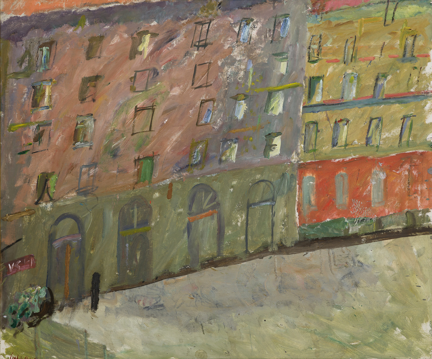 Alf Lindberg   Gatan  1969  Oil on canvas 115 x 138 cm