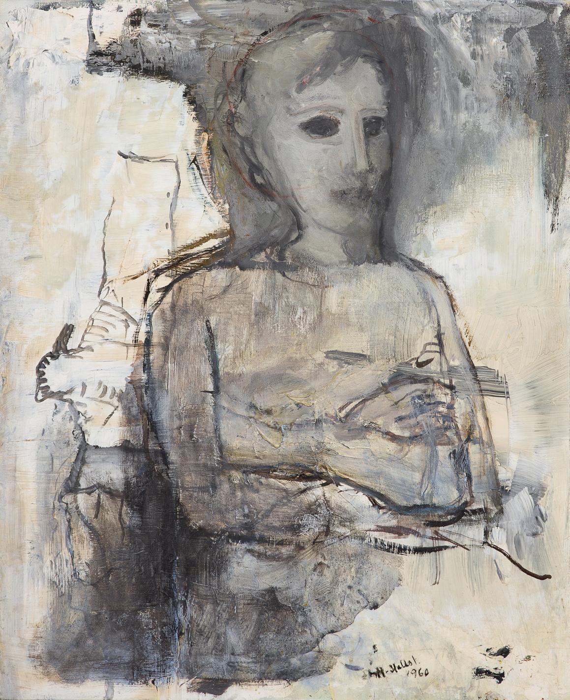 Staffan Hallström   Fästmön  1960 Oil on panel 73 x 60 cm