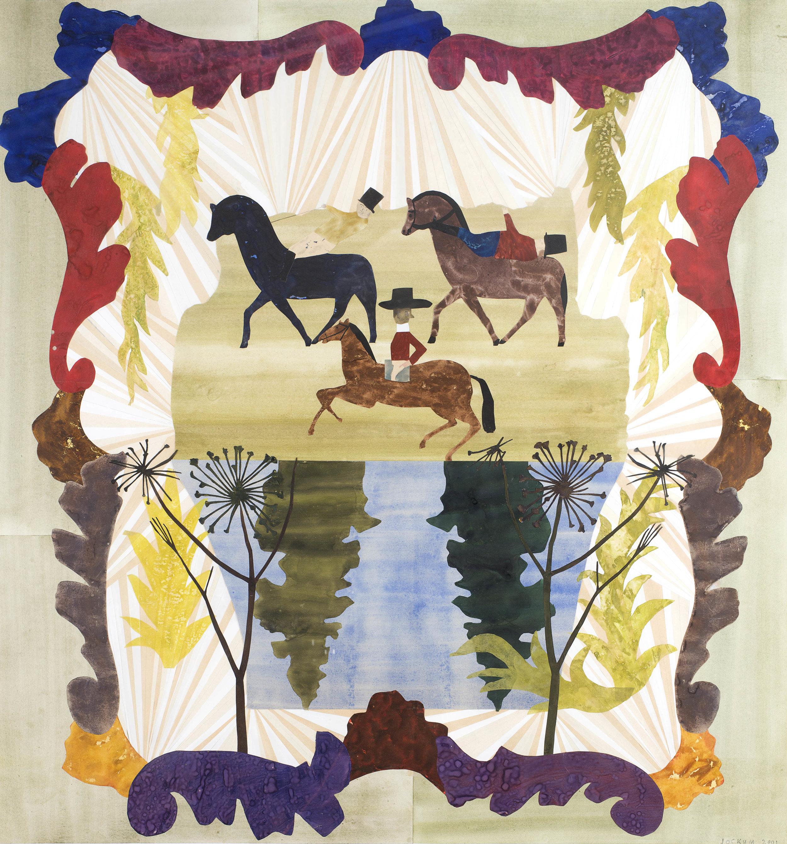 Jockum Nordström   Domarämbetet/The Judicature  2001 Collage 111 x 104 cm
