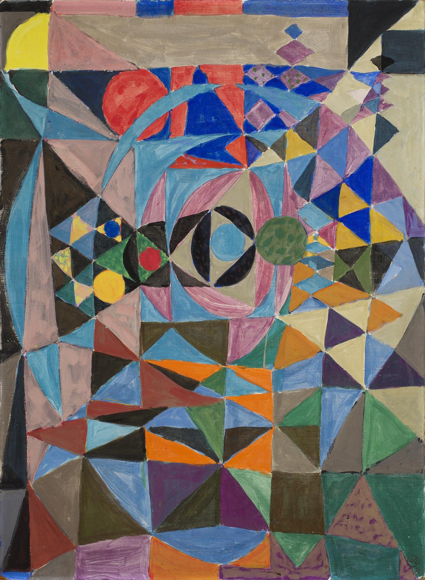 Lennart Rodhe    Drakar  Tempera on canvas 121 x 92 cm