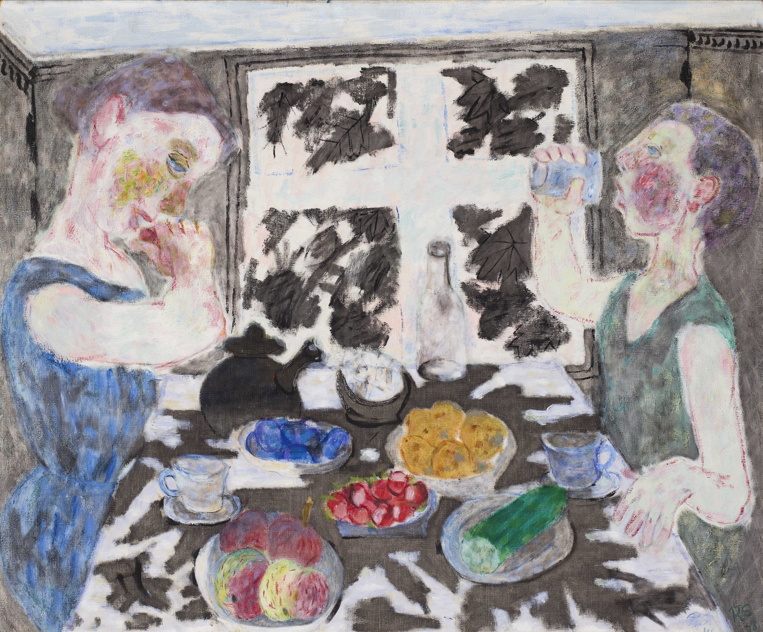 Ragnar Sandberg   Skugga på matbordet  1941/1943 Oil on canvas 78 x 93 cm