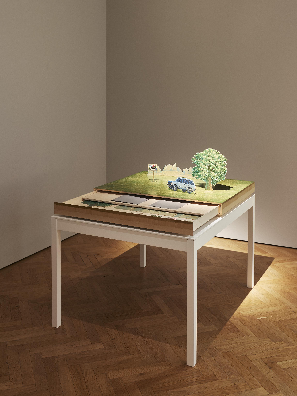 Goldin+Senneby   A3 The Plot  With Pamela Carter (playwright), Johan Hjerpe (designer), Moa Ott (carpenter),Natali Hallberg (scenic painter) 2015