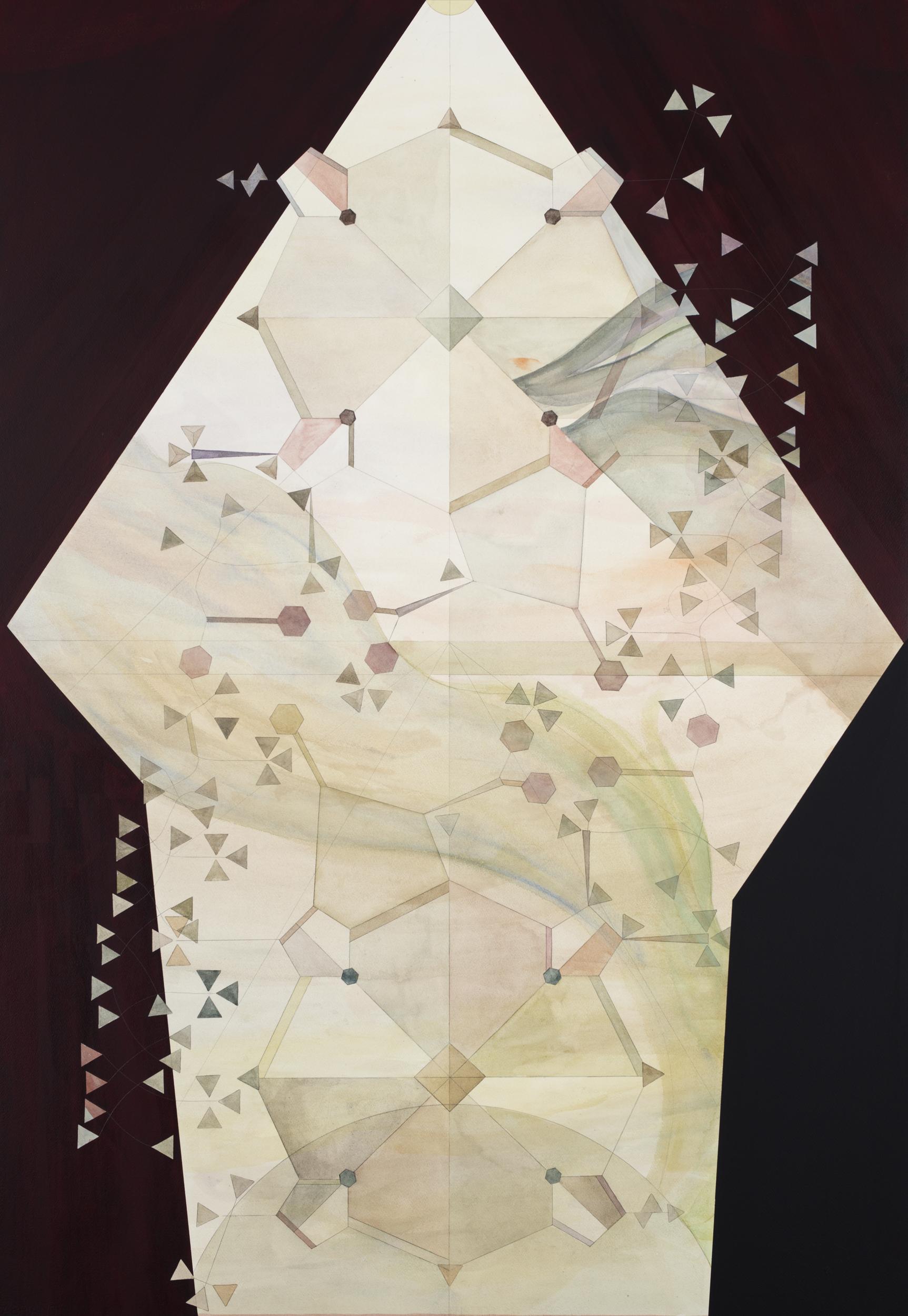 Christine Ödlund   Clorophilia  2018 Plant pigment, tempera and mixed binder on paper 139 x 94,6 cm