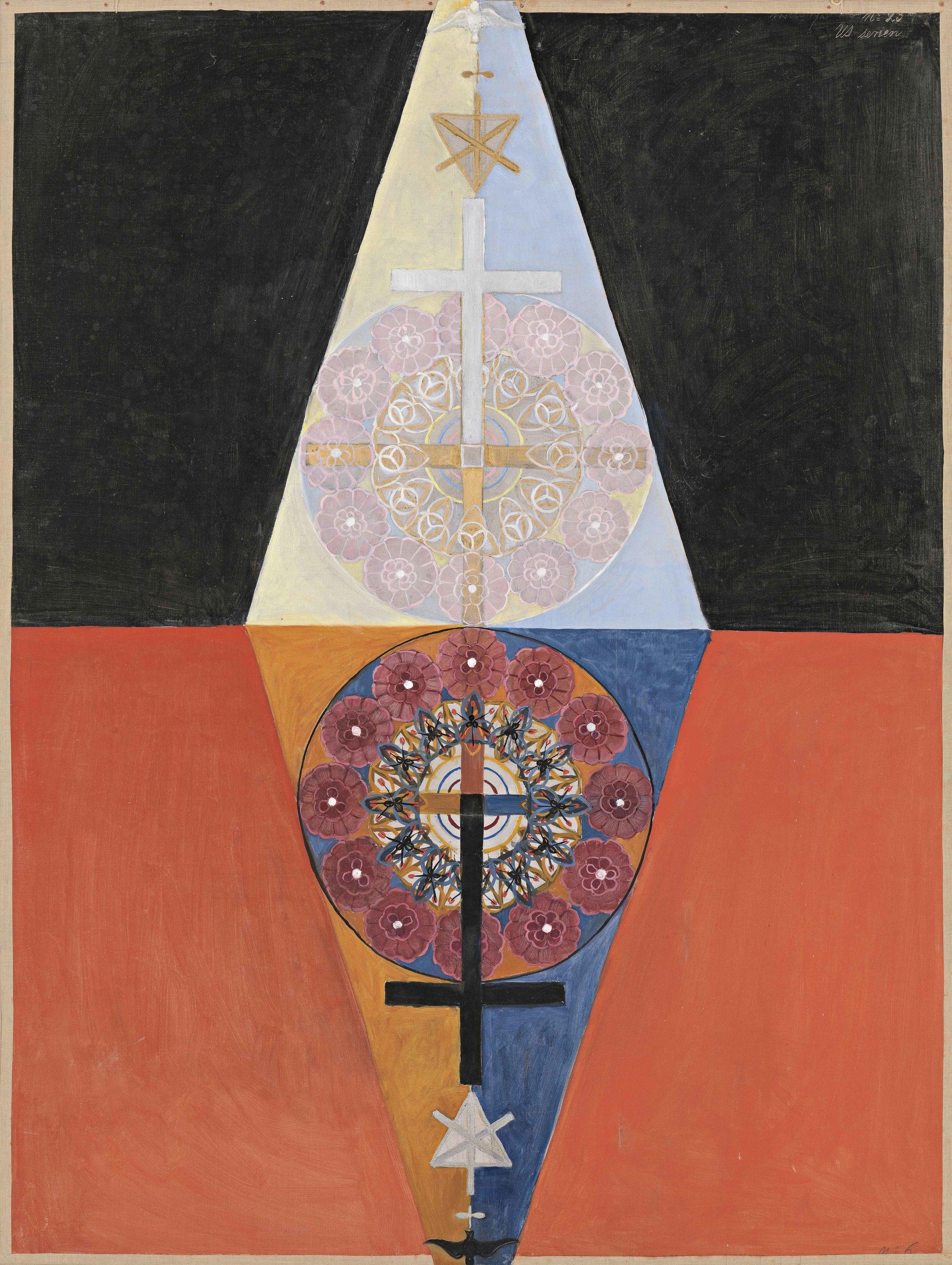 Hilma af Klint  Nr. 6, Series US, Grupp VIII  1913 Oil on canvas 152,5 x 115,5 cm