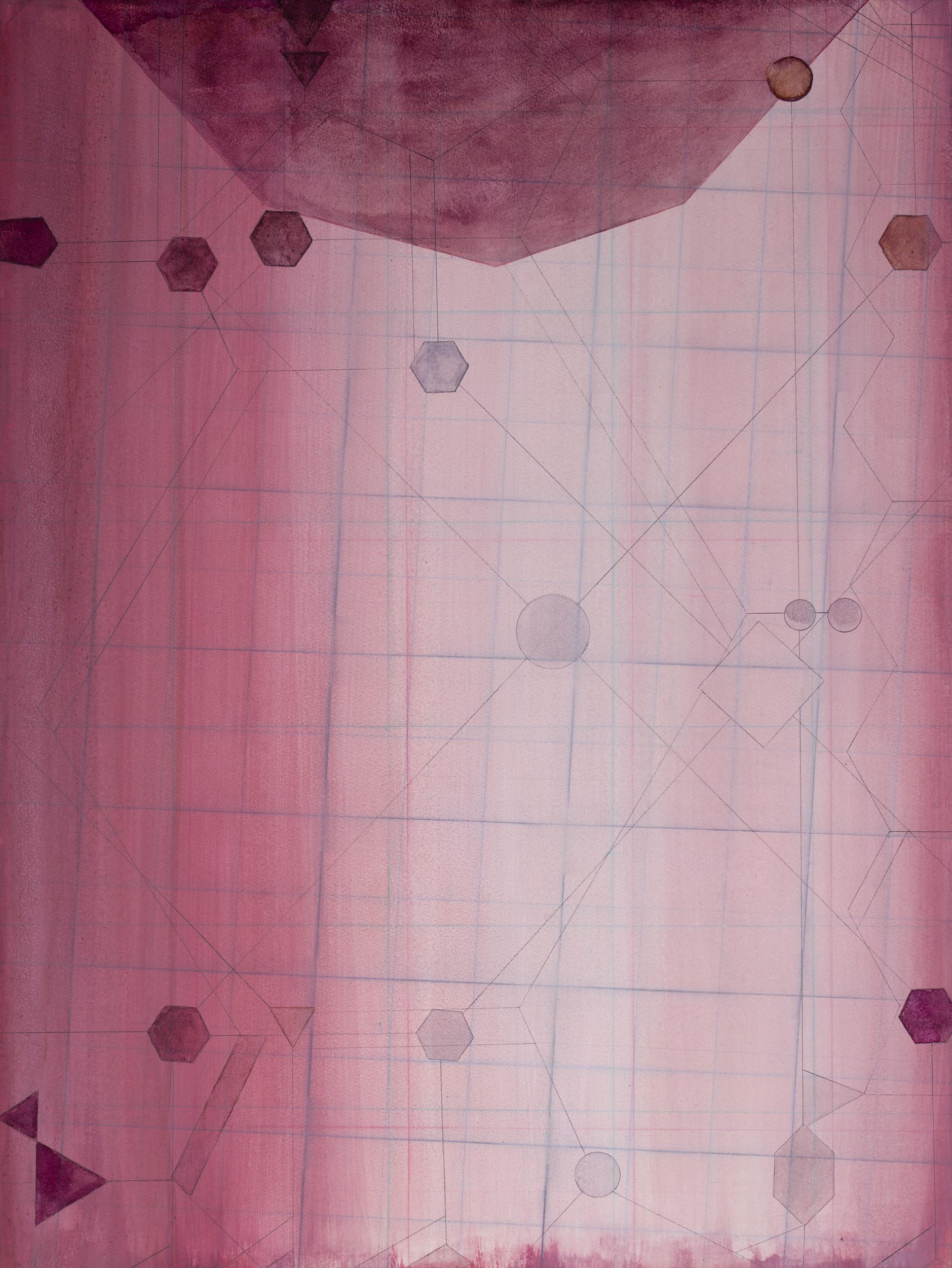 Christine Ödlund   Molekyl  2018 Plant pigment, tempera, and mixed binder on paper 71,9 x 53,8 cm
