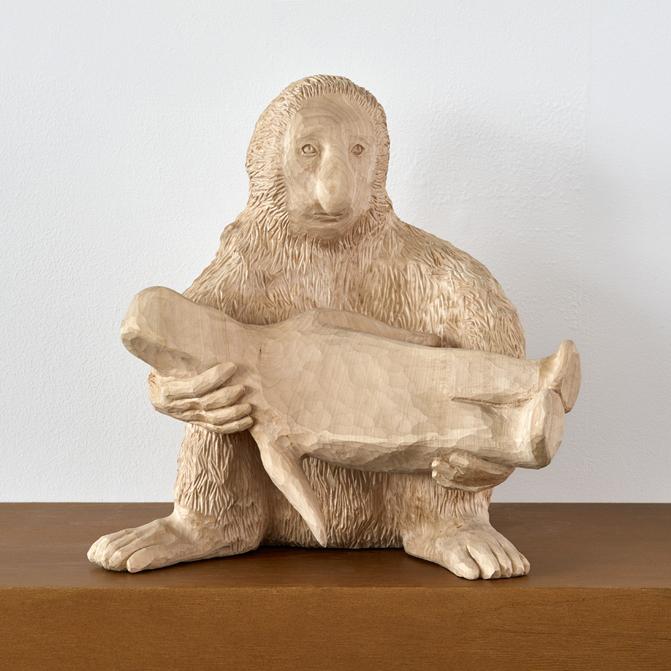 Paloma Varga Weisz   Nose Monkey  2016 Edition of 3 Limewood 46 x 40 x 40 cm