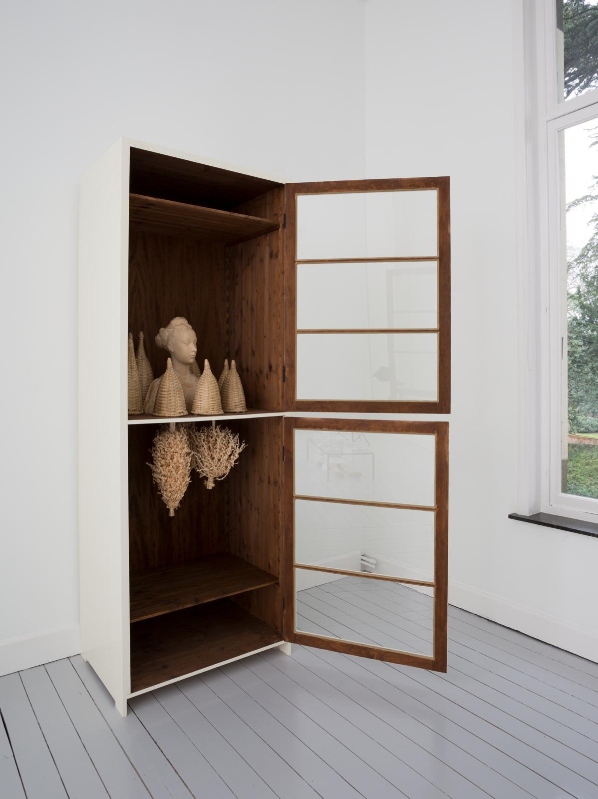 Paloma Varga Weisz   Bois Dormant – Cabinet 5  2015 Wood, glass 250 x 90 x 64 cm