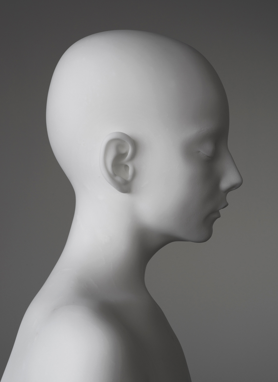 Anders Krisár  Half Girl (right)  2018 Marble Edition of 3 + 2 AP 47 × 23 × 18,2 cm