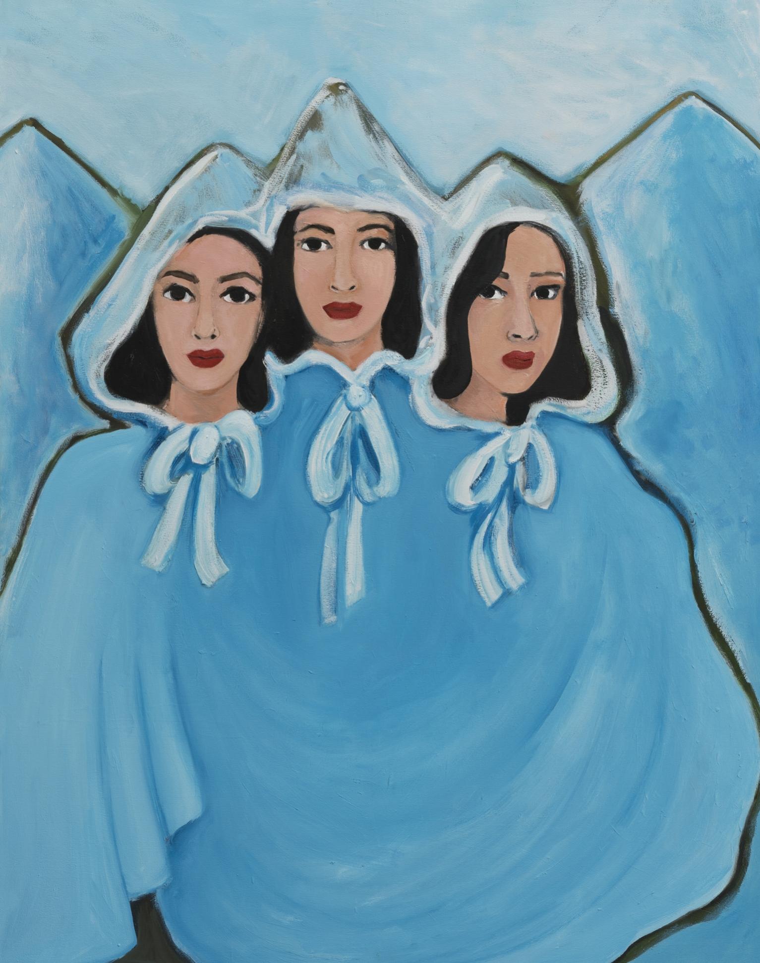 Becky Kolsrud   Three Graces  2018 Oil on Canvas 142 x 112 cm