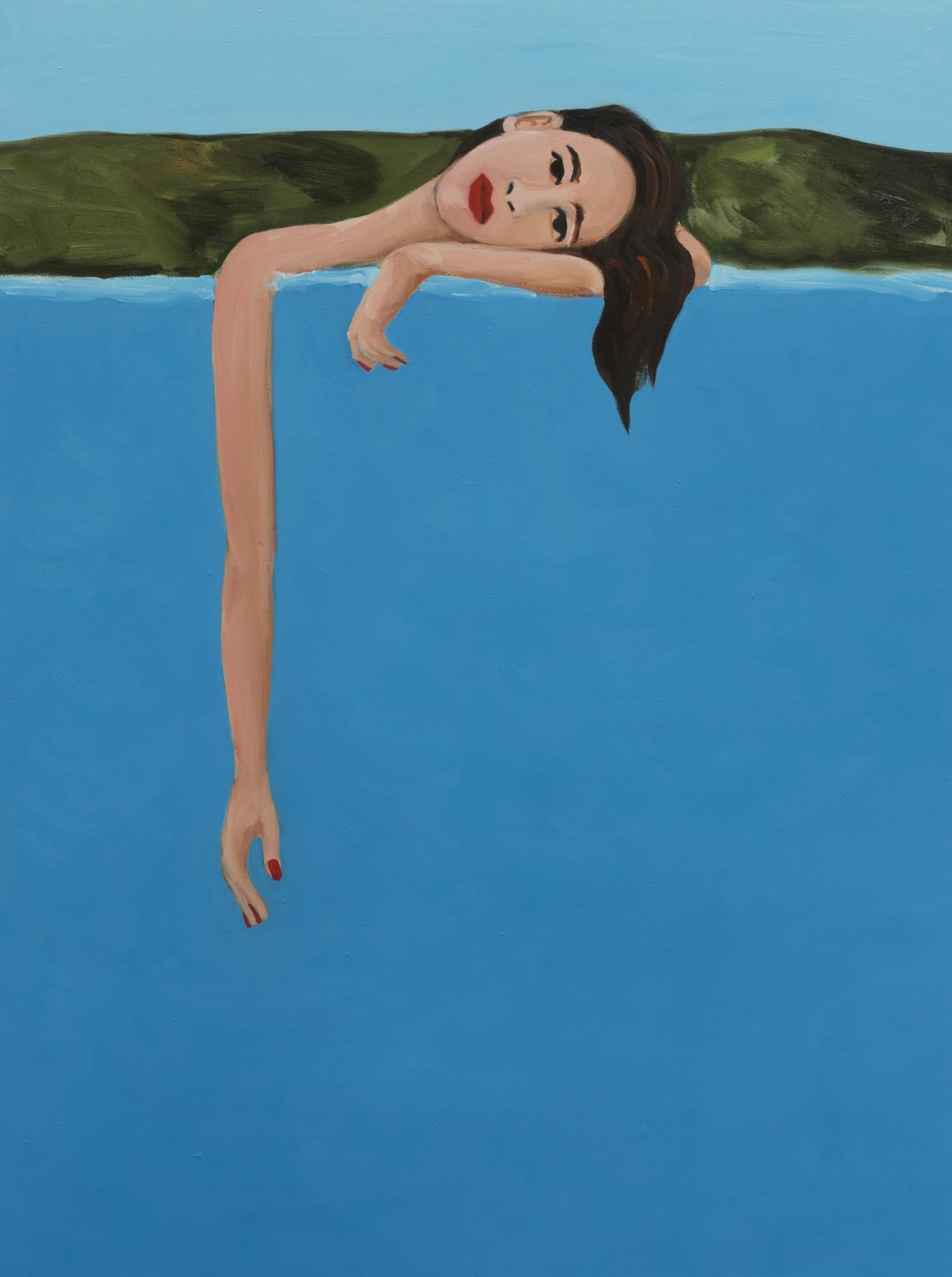 Becky Kolsrud   Resting Bather  2018 Oil on canvas 123 x 91,5 cm