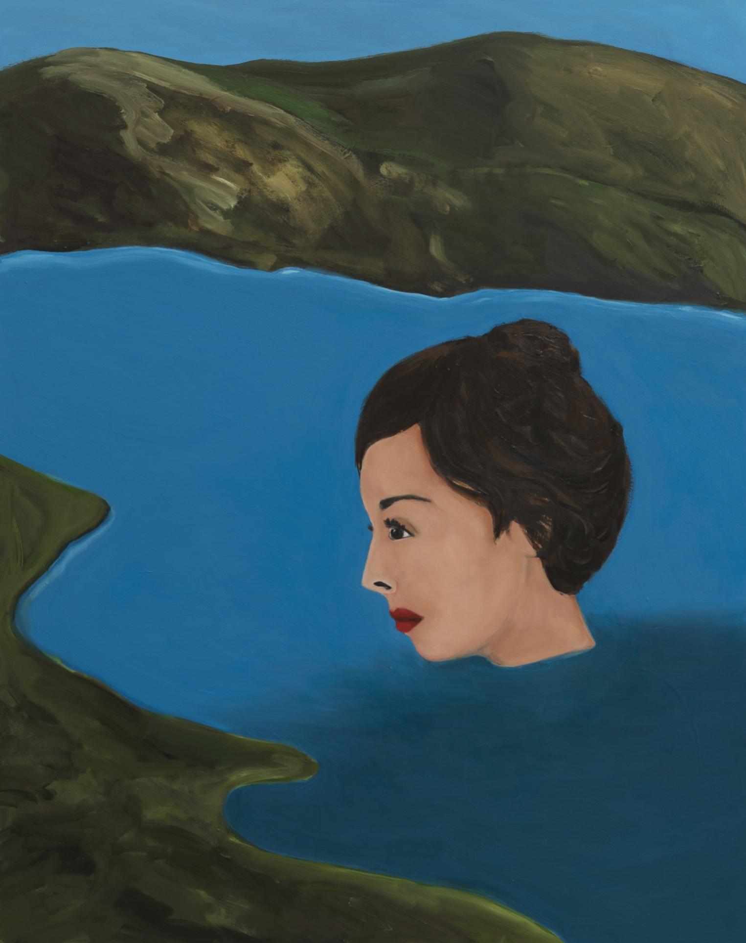 Becky Kolsrud   Floating Head  2018 Oil on Canvas 142 x 112 cm