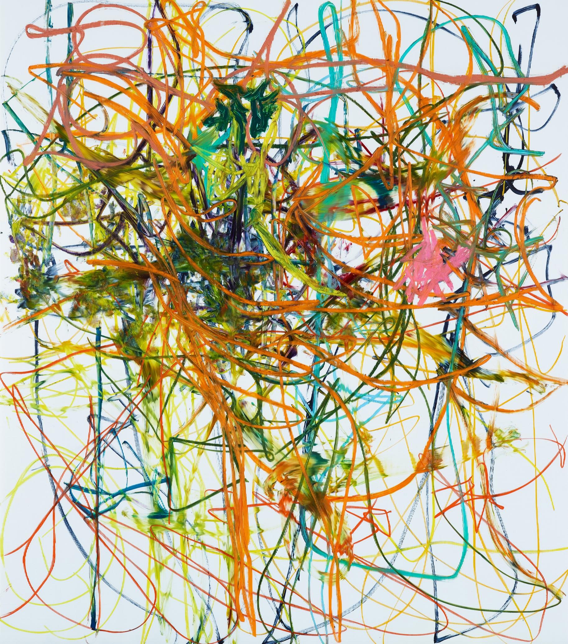 Aaron Garber-Maikovska   Untitled  2017 Ink and oil stick on archival gaterboard, framed 203 x 228,5 cm