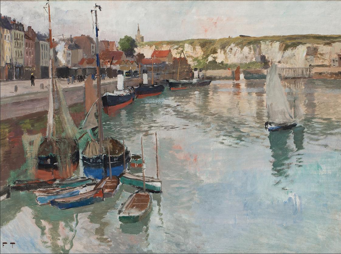 Frits Thaulow,Hamnen i Dieppe, cirka 1894, olja på duk,65 x 92,5 cm.