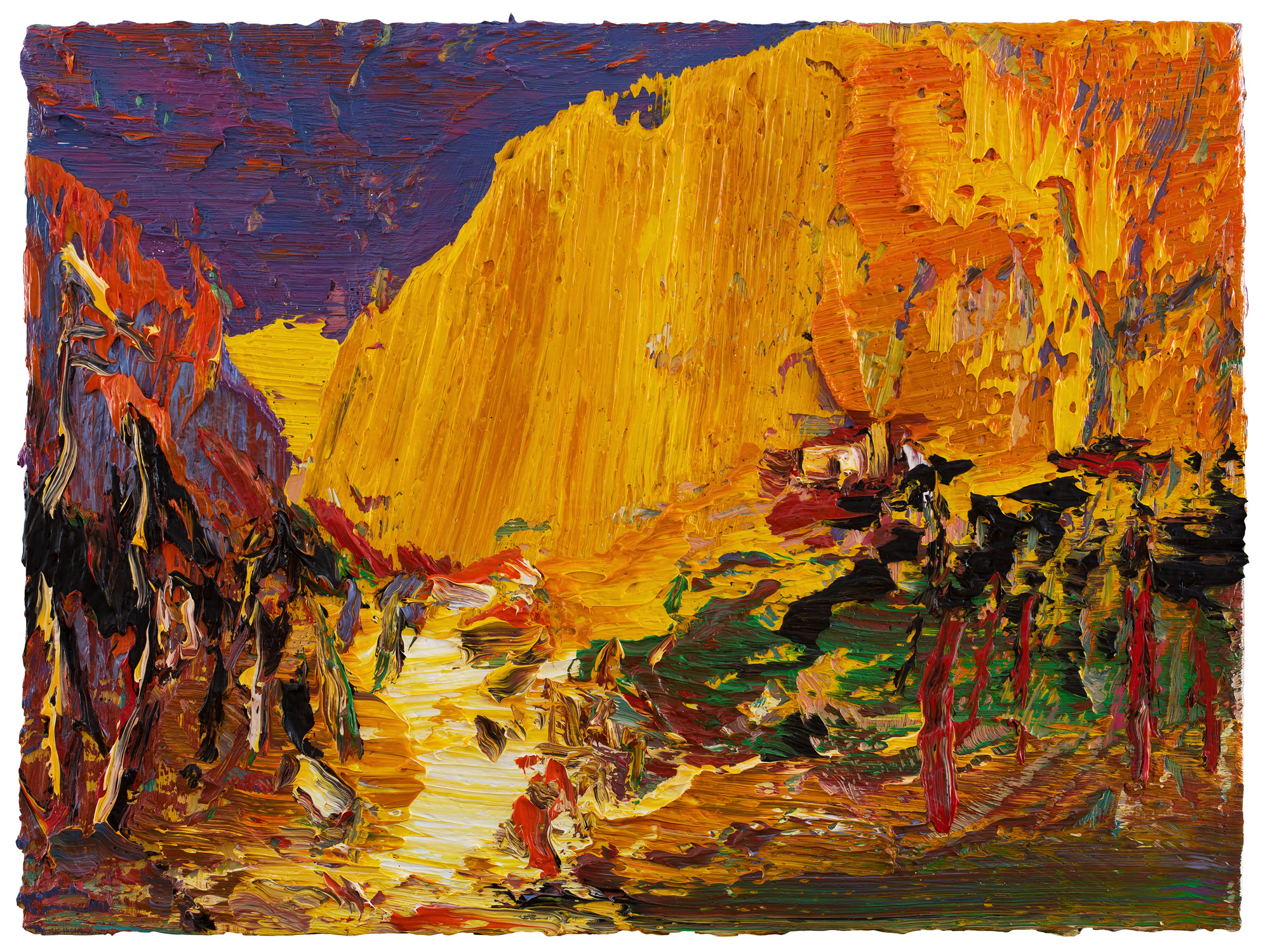 Yin Zhaoyang   Songshan mountain autumn , 2018 Oil on canvas 60 x 80 cm
