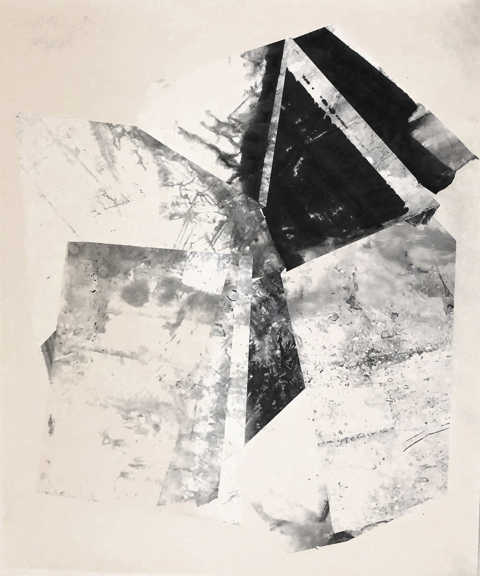 Zheng Chongbin   Untitled 3 , 2018 Ink and acrylic on xuan paper, mounted 129.5 x 106.5 cm