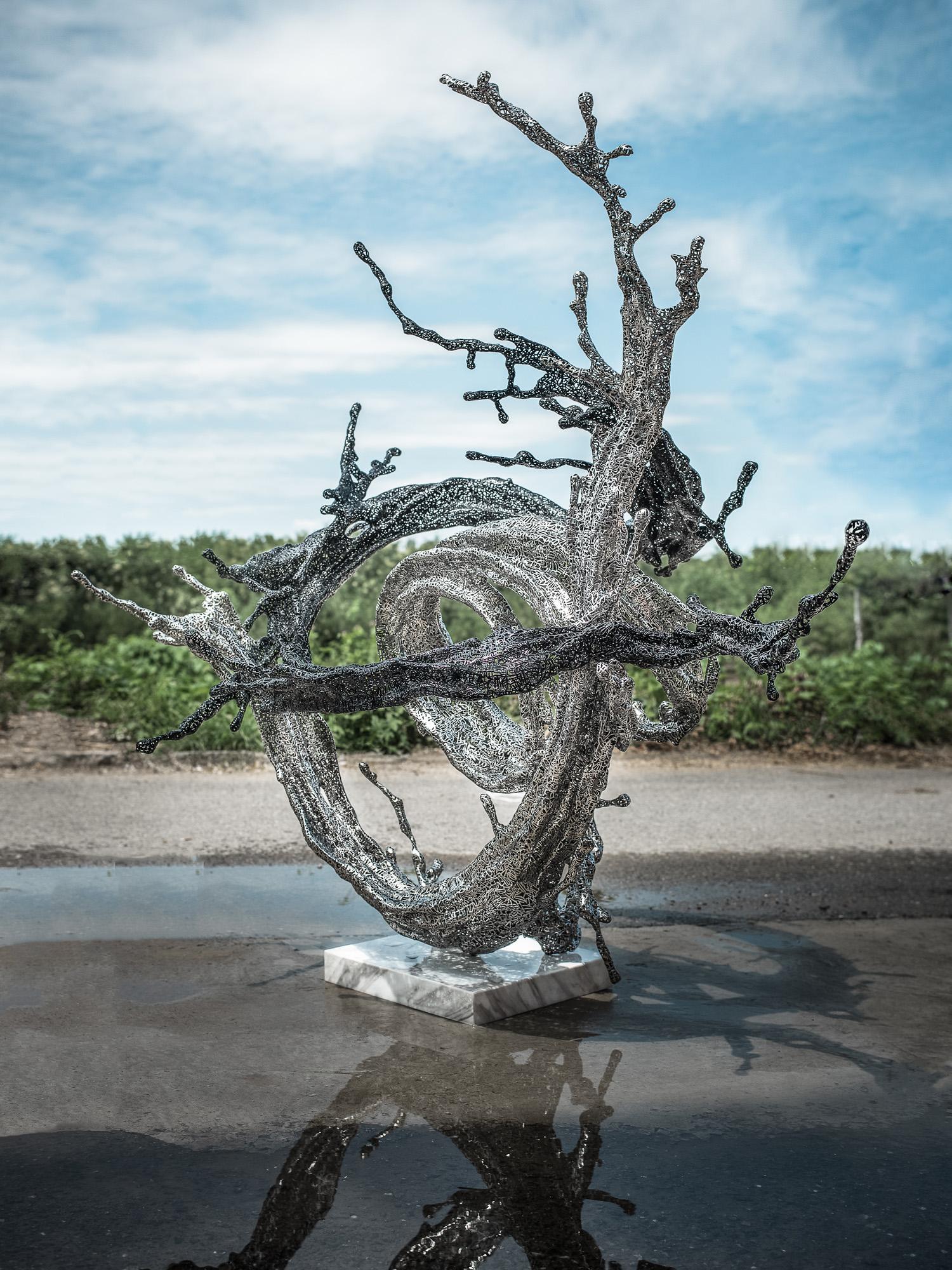 Zheng Lu   Milky Way  Stainless steel 115 x 143 x 157 cm Edition AP